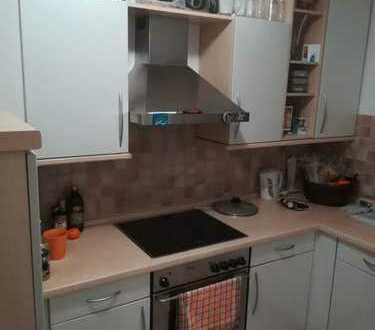Gepflegte ruhige 2-Zimmer-Dachgeschosswohnung mit Balkon und Einbauküche in Schwabhausen