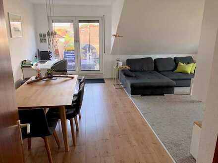 Freundliche und helle 2-Zimmer-Wohnung mit Loggia und Einbauküche in Nackenheim