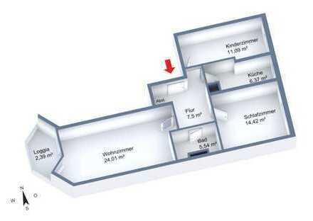 ruhige 3-Zi-Wohnung in Milbertshofen