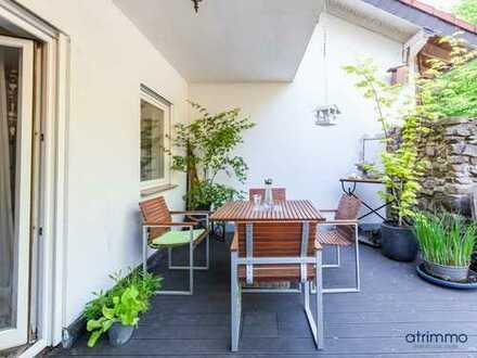 Ruhige 2-Zimmer-Wohnung mit zwei Terrassen in idyllischer Höhenlage direkt an Wald und Feldern