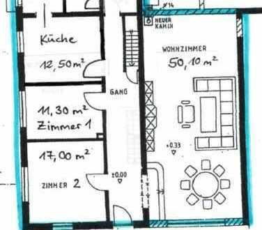 3 ZKB Erdgeschosswohnung mit Vorgarten in charmanten Bauernhaus