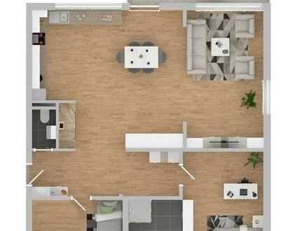 Erstbezug nach Sanierung - Helle 3 Zimmerwohnung mit Balkon! + Garage!