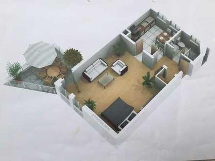 600 €, 60 m², 1,5 Zimmer