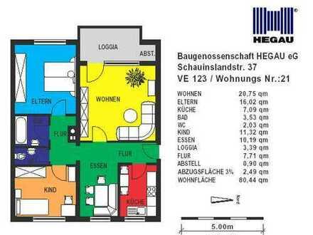 3-Zimmer-Wohnung in Singen-Nord