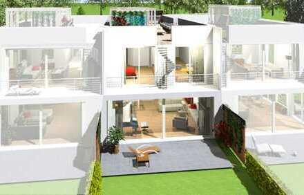 Hausanteil in Halbhöhenlage: 210 m² Wohnfläche, Garten und große Dachterrasse!