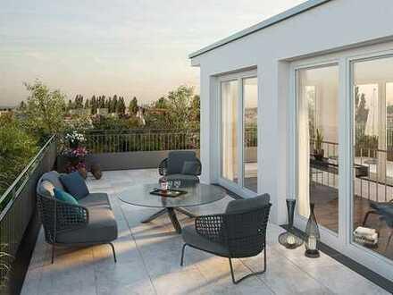 Einmalige 4-Zimmer-Wohnung mit 40 m² Dachterrasse im 6.OG