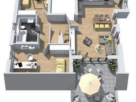 Neubau: 4-Zimmer- Dachgeschoss-Maisonette-Wohnung mit großer Süd-West-Dachterrasse