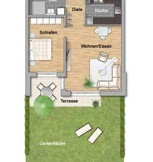 2-Zimmer mit Gartenanteil im Betreuten Wohnen
