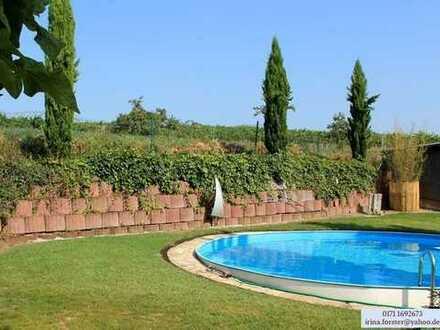 4-Zimmer-Wohnung: wunderschöner Blick auf Weinberge und mit Garten
