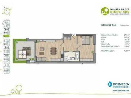 Wohnen im Grünen! 2-Zimmer-Erdgeschosswohnung mit großer Terrasse!