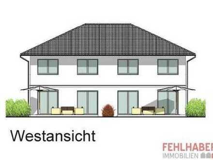 Moderne Doppelhaushälfte (Neubau) mit 2 Vollgeschossen in Obstbausiedlung HGW