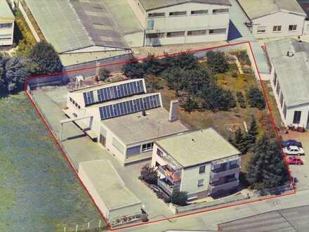 Großzügiges Gewerbegrundstück mit Produktionshalle, Lager und Wohnhaus in Freiberg am Neckar!