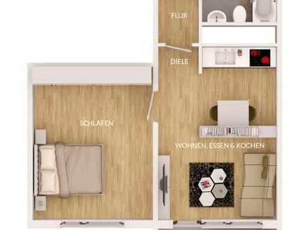 saniertes, kleines 2-Zimmerapartment mit Balkon