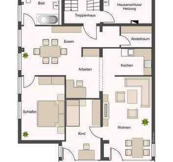 offene 3-Zimmerwohnung