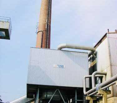 *AD1975* Aschersleben, Kraftwerk (2500KW) neben Bahnstrecke auf 3,8ha