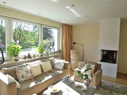 Sonnendurchflutete Wohnung in exklusiver Wohnlage! Doppelgarage+Kamin+riesiger Südbalkon!