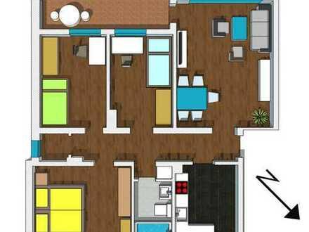 Erstbezug nach Renovierung! 4 Zimmer Wohnung mit Balkon!