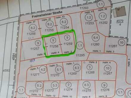 2 Grundstücke mit je 336 m² für Familien