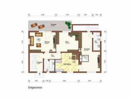 Erstbezug nach Sanierung mit Terasse: großzügige 3-Zimmer-EG-Wohnung mit Wohnküche in Bad Kohlgrub