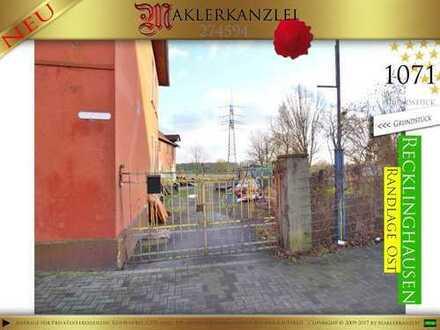 +++ NEU +++ neuer Preis für ebenes/bebautes 1071m² Grundstück in Recklinghausen