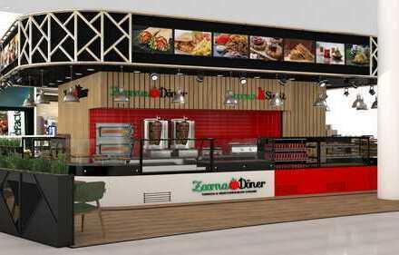 ZOORNA Döner & Simit Restaurant mit Außen Gastronomie am Haupteingang - Shoppingcenter Königsgalerie