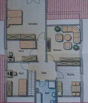 Freundliche 4,5-Zimmer-Wohnung mit Balkon und Einbauküche in Ebenweiler