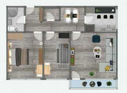 Stilvolle, modernisierte 3-Zimmer-Penthouse-Wohnung mit gehobener Innenausstattung in Ingolstadt