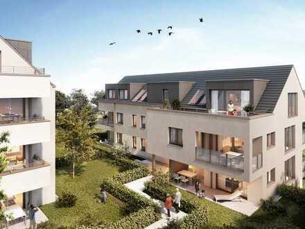 Zuhause mit Terrasse, Garten und Balkon