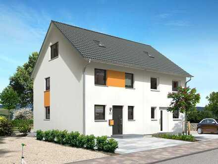 Doppelhaushälften auf großem Grundstück mit Keller und ausgebautem Dach