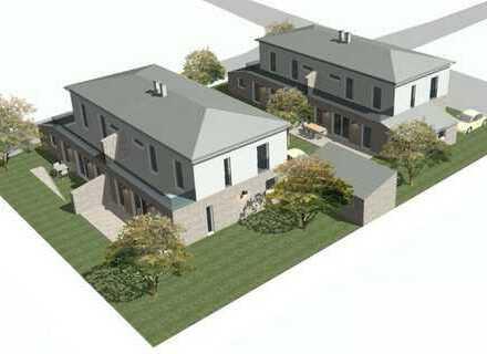 Neubau von vier schlüsselfertigen Doppelhaushälften in Hemau; hier Haus C