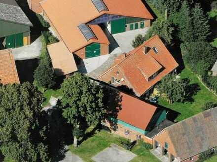 Resthof mit Potential - idyllisch gelegen, mit neuer großer Halle und Stallungen aus 2000