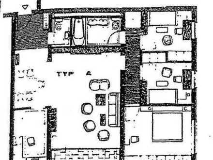 Helle 4 Zi-Wohnung mit Balkon + 1 PKW-Außenstellplatz in Dietzenbach-Spessartviertel!