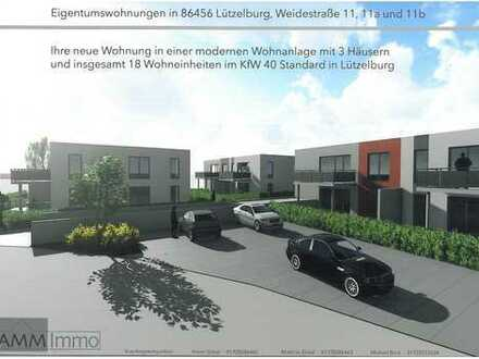 Moderne 2-Zimmer-Wohnung im KFW 40 Standard