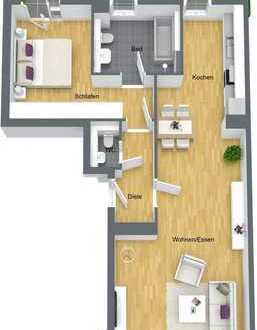 Plus an Lebensqualität: Moderne und großzügig geschnittene Wohnung mit zwei Terrassen!