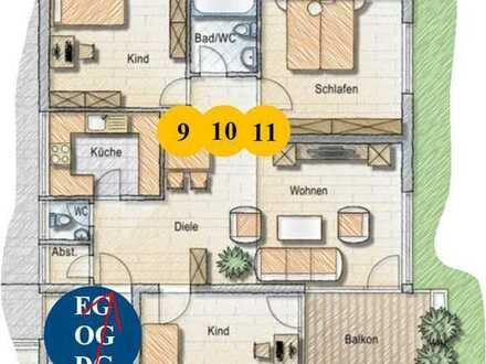 Gepflegte Erdgeschosswohnung mit 4,5 Zi mit Balkon, hochwert. Einbauküche und Garage, Lottstetten