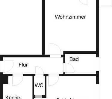 Schöne 2 Zimmer Wohnung mit Garage von Privat