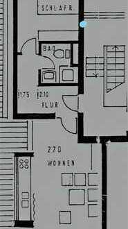 Stilvolle, gepflegte 2-Zimmer-Dachgeschosswohnung mit Balkon und EBK in Markgröningen