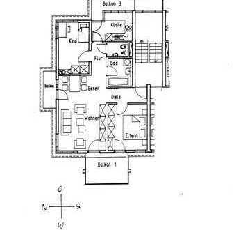 Helle neuwertige Wohnung mit drei Zimmern und Balkon in Ludwigsburg