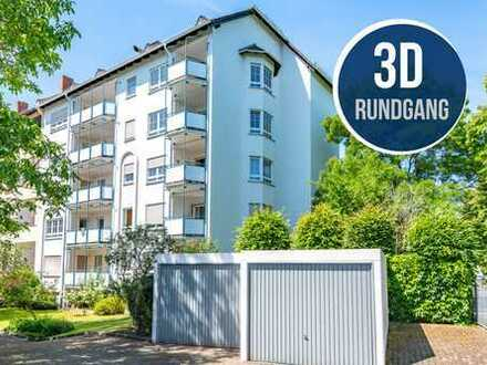 Hanau-Stadt: Wunderschöne, helle 3 Zimmer-Wohnung mit tollem Balkon in top gepflegter Liegenschaft