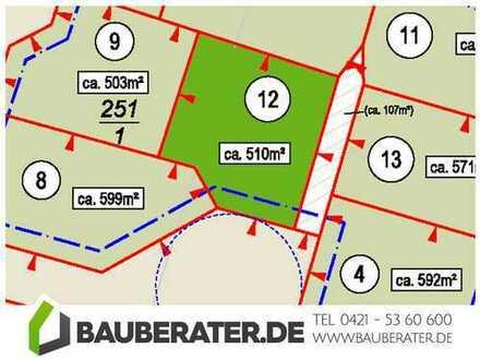 Bauträger und Provisionsfrei! 510 m² im Baugebiet Delmenhorst Stickgras