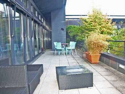 Moderne Penthousewohnung mit großer Dachterrasse und herrlichem Ausblick ins Grüne in Bad Godesberg