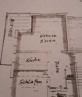 Schöne helle zwei Zimmer Wohnung in Gelnhausen-Höchst