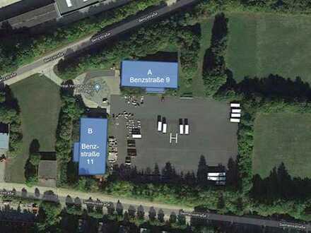 Zwei Lagerhallen zuzüglich großem Lagerplatz