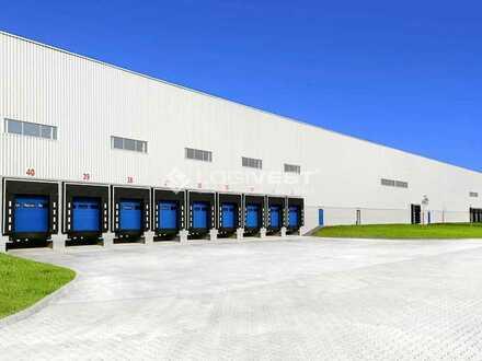 Projektierter Neubau einer hochmoderner Logistikimmobilie
