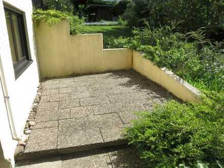 2-Zimmer-Einliegerwohnung im Bergwald, Terrasse und Gartennutzung, nur an Einzelperson zu vermieten!