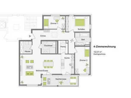 Letzte Wohnung im Projekt: Traumhafte 4-Zimmerwohnung im Dachgeschoss