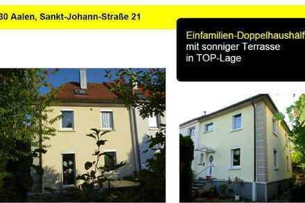 Einfamilien-Doppelhaushälfte in TOP-Lage in Aalen zu vermieten