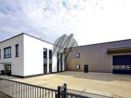 WERKSTATTHALLE ✓ NÄHE BAB 5 ✓ Lager-/Werkstattflächen (1.100 m²) & Büroflächen (300 m²) zu verkaufen