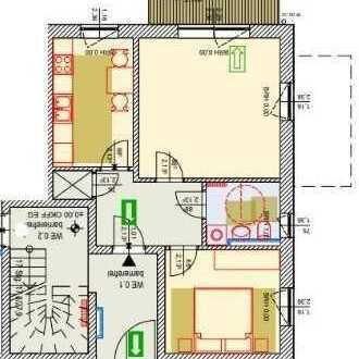 Bild_Erstbezug moderne 2 R Wohnung ca 58 m² Wfl. mit Terrasse, voraussichtlich ab 01.08.2019