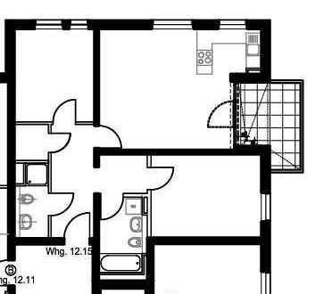 Nagelneue 3-Zimmer Wohnung 12.15 in den Aristide-Gärten (Herzo-Base)